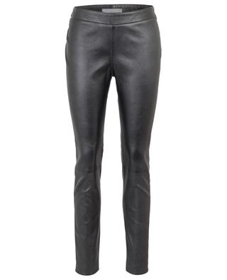 Pantalon slim en cuir métallisé Todi FABIANA FILIPPI