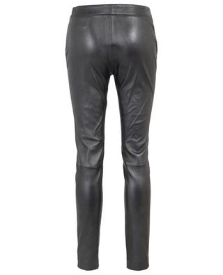 Todi metallic leather slim fit trousers FABIANA FILIPPI