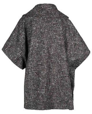 Cape en laine mélangée imprimé pied-de-poule FABIANA FILIPPI
