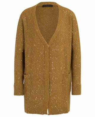 Loose sequin embroidered V-neck cardigan FABIANA FILIPPI