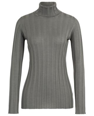Ribbed turtleneck sheath jumper in cashmere and silk FABIANA FILIPPI