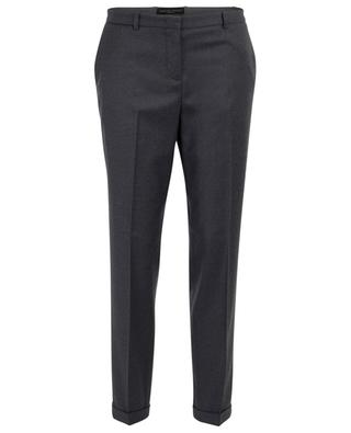 Montefalco straight embroidered wool trousers FABIANA FILIPPI
