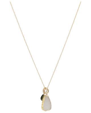 Halskette mit Druse und Kristall RUEBELLE MAUI PARIS