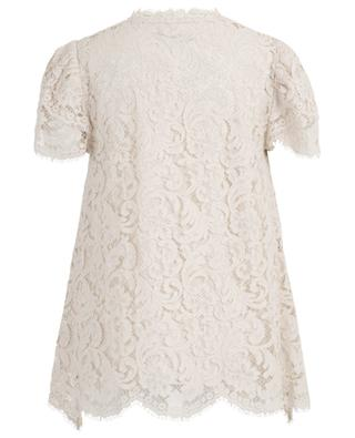 Loose A-line lace top with short sleeves SLY 010
