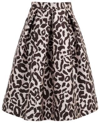 Jupe évasée taille haute imprimée léopard SLY 010