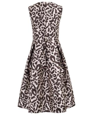 Sleeveless leopard print sheath dress SLY 010