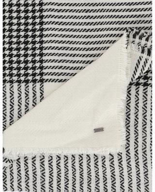 Houndstooth check jacquard shawl SAINT LAURENT PARIS