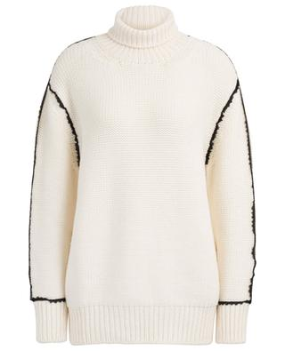 Pull long en laine à col roulé SLY 010