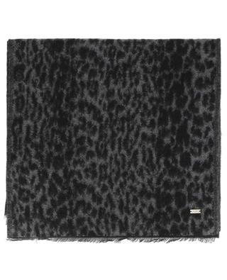 Leopardenstola aus Mohairmix SAINT LAURENT PARIS