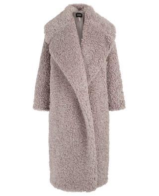 Faux fur coat with long raglan sleeves SLY 010