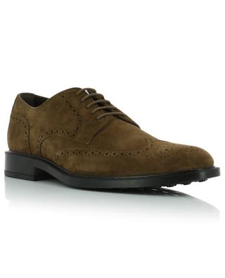 Suede lace-ups with perforated tip TOD'S