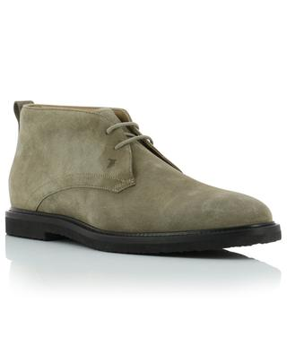 Suede lace-up ankle boots TOD'S