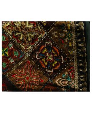 Kanadas Kanpur satin and carpet print velvet scarf PIERRE LOUIS MASCIA