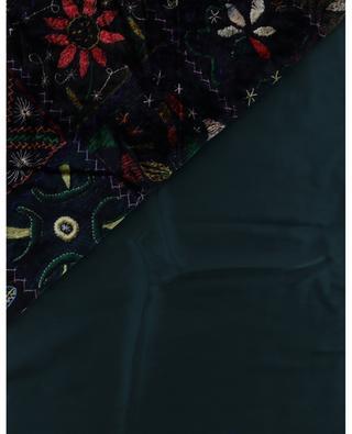 ´Écharpe en velours et satin imprimée tapis Kanadas Kanpur PIERRE LOUIS MASCIA