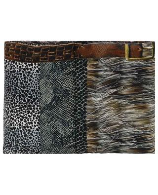 Aloeuw animal print down padded scarf PIERRE LOUIS MASCIA