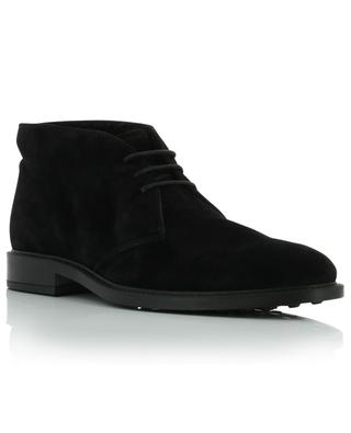 Fur lined suede lace-up boots TOD'S