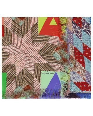 Aloeuw silk square with quilt print PIERRE LOUIS MASCIA