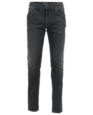 Graue Slim-Fit-Jeans Leonardo T Black Confort TRAMAROSSA