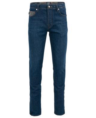 Leonardo slim fit jeans with camouflage details TRAMAROSSA