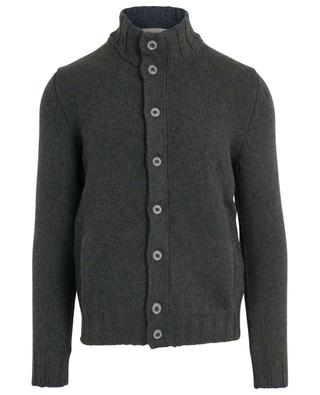 Thick mottled button-down cardigan with stand-up collar GRAN SASSO
