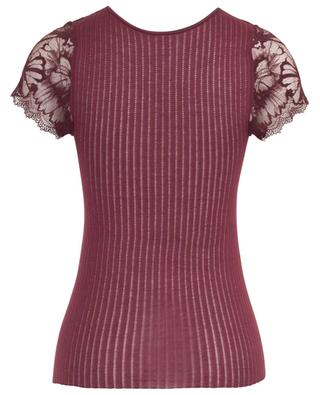 Short-sleeved top with lace ZIMMERLI