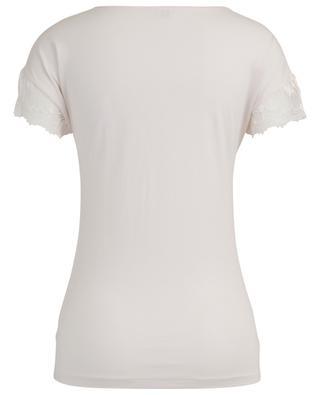 T-Shirt aus Modal und Seide mit Spitze ZIMMERLI