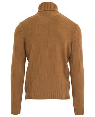Diamond textured turtleneck jumper GRAN SASSO