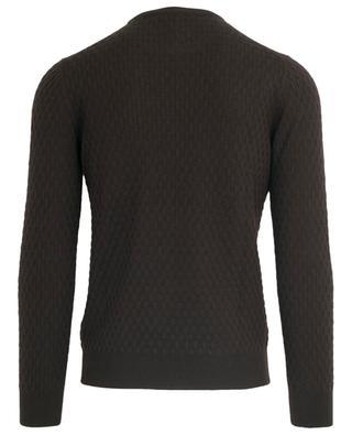 Thin basketweave stitch round neck jumper GRAN SASSO