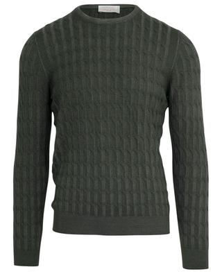 Thin faded effect cable knit jumper GRAN SASSO