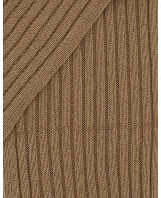 Todd & Duncan cashmere rib knit scarf GRAN SASSO