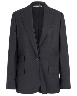 Textured wool blazer with strap detail STELLA MCCARTNEY
