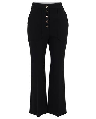 Pantalon taille haute en laine à pressions STELLA MCCARTNEY