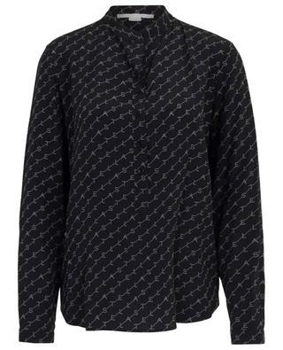Eva Monogram silk blouse STELLA MCCARTNEY
