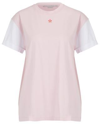 Zweifarbiges besticktes Bio-T-Shirt Ministar STELLA MCCARTNEY