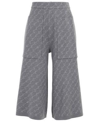 Monogram cropped wide-leg jacquard trousers STELLA MCCARTNEY