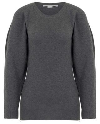 Soft Simple raglan sleeve jumper with size zippers STELLA MCCARTNEY