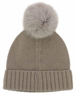 Cascante knit beanie with fur pompon NIMA