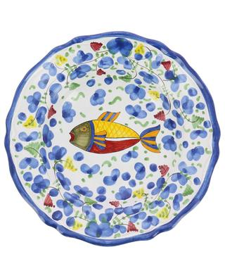 Assiette à pasta motif poisson Pesce Azurro M PIATAVOLA