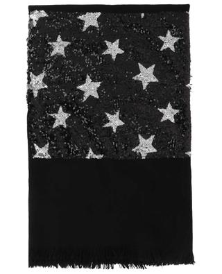 Unicorn sequin star embroidered scarf GAYNOR
