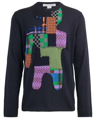 Fine kint jumper with patchwork dummy COMME DES GARCONS SHIRT