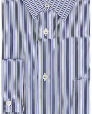 Gestreiftes Baumwollhemd mit Wolldetails COMME DES GARCONS SHIRT