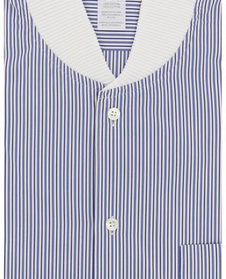 Gestreiftes Slim-Fit-Hemd mit geripptem Bomber-Kragen COMME DES GARCONS SHIRT