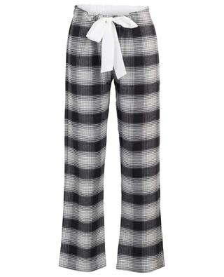 Flannel check pyjama trousers BLUE LEMON