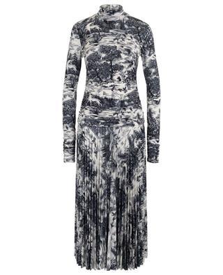 Forest Print long fluid jersey dress VICTORIA BY VICTORIA BECKHAM