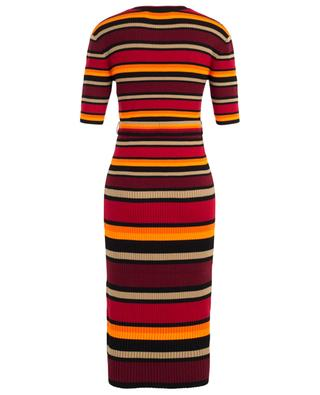Long striped wool blend dress VICTORIA BY VICTORIA BECKHAM