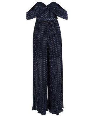 Plumetis pleated chiffon jumpsuit SELF PORTRAIT