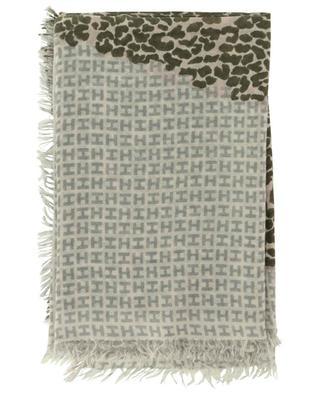 Six fringed cashmere scarf HEMISPHERE