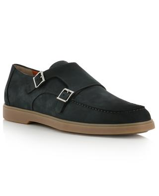 Textured leather loafers SANTONI