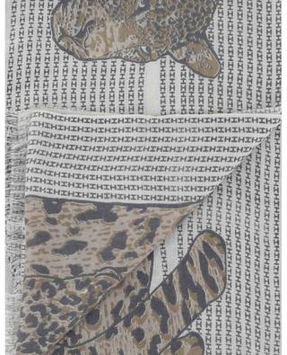 Safari monogrammed scarf with cheetah HEMISPHERE