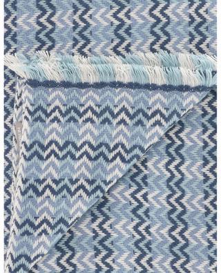 Selma chevron pattern jacquard scarf HEMISPHERE
